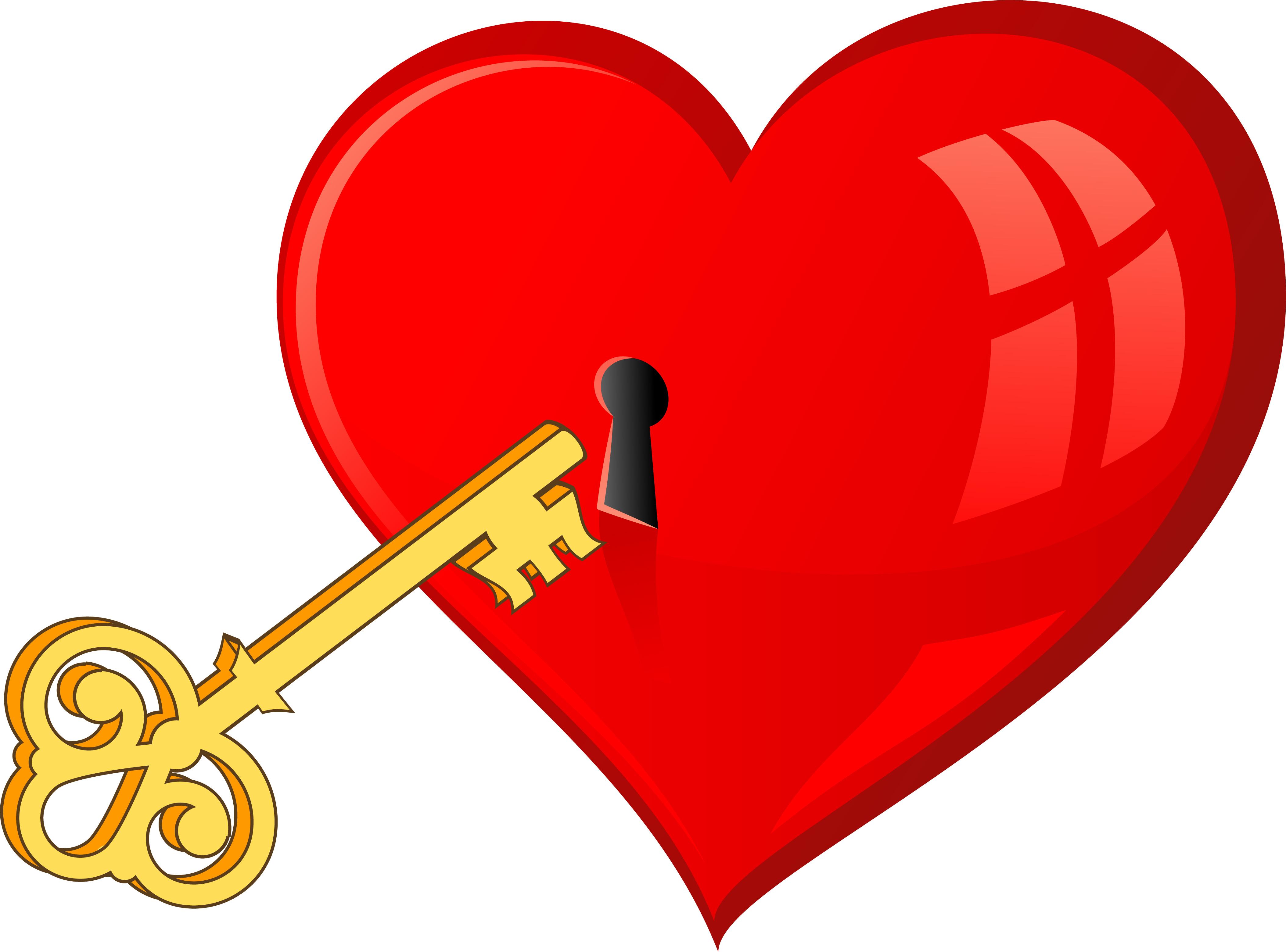 Ключ от сердца рисунок
